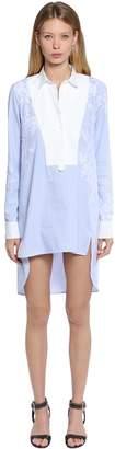 Ermanno Scervino Oversized Poplin Shirt W/ Lace Details