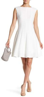 Gabby Skye Pintuck Fit & Flare Dress