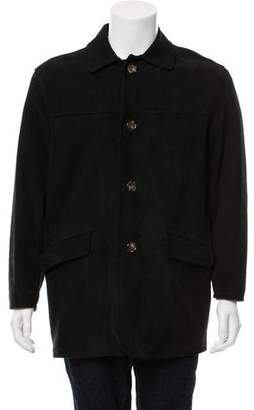 Loro Piana Button-Up Suede Jacket