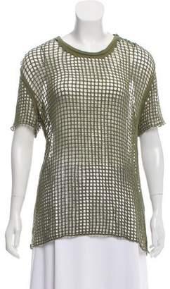 IRO Short Sleeve Fishnet Top