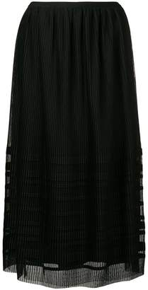 RED Valentino micro pleated midi skirt