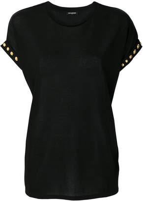 Balmain stud-trimmed T-shirt