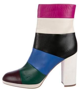 Valentino Bo-y-ch Multicolor Stripe Booties w/ Tags