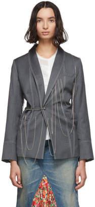 Charles Jeffrey Loverboy Grey Chained Blazer