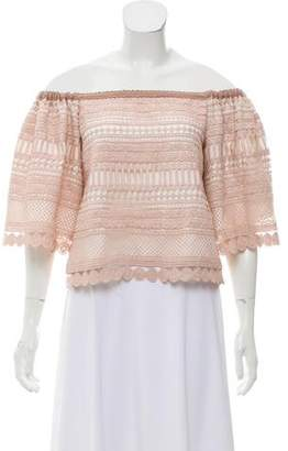 Alexis Lace Off-The-Shoulder Top