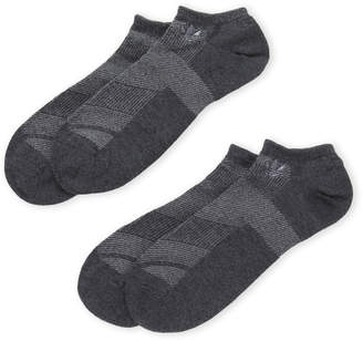 adidas Two-Pack Moisture Wicking No-Show Socks
