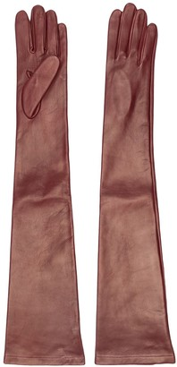 No.21 long leather gloves