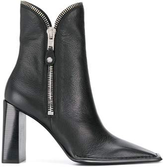 Alexander Wang zip detail ankle boots
