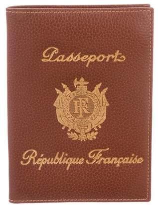 Longchamp Leather Passport Cover