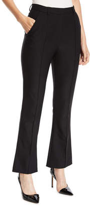 Escada High-Waist Flared-Leg Ankle Pants