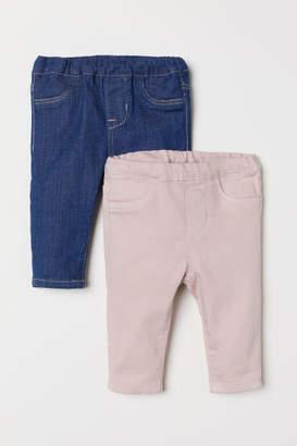 H&M 2-pack Denim Leggings - Blue