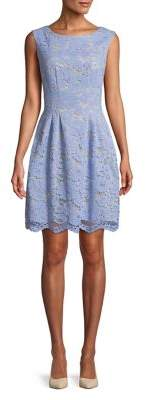 Vince Camuto Sleeveless Lace Fit-and-Flare dress