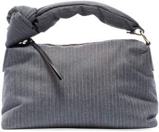 Dries Van Noten Pinstripe Knotted Shoulder Bag