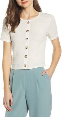 June & Hudson Button Front Shirt