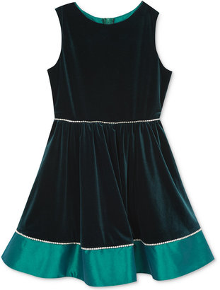 Rare Editions Velvet & Taffeta Dress, Big Girls (7-16) $84 thestylecure.com