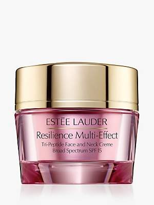 Estee Lauder Resilience Multi-Effect Tri-Peptide Face and Neck Creme SPF 15, Dry Skin, 50ml
