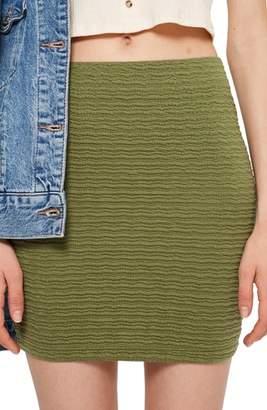 Topshop Textured Miniskirt