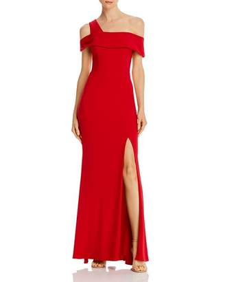 Aqua Off-the-Shoulder Single-Strap Gown - 100% Exclusive