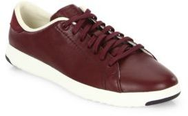 Cole Haan GrandPro Leather Tennis Sneakers $130 thestylecure.com