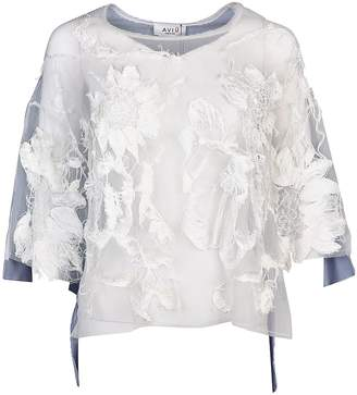 Aviu Embroidered See-through Top