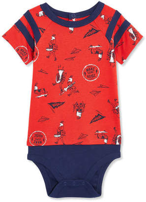 Joe Fresh Baby Boys Short Sleeve Fooler Bodysuit