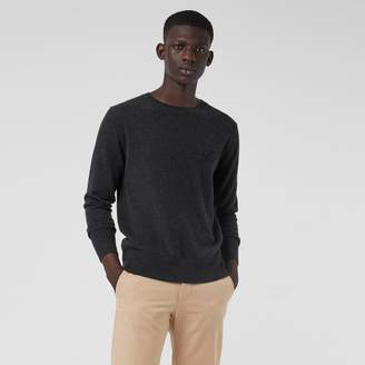 Burberry Embroidered Archive Logo Cashmere Sweater, Grey