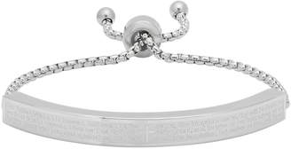 Steel By Design Stainless Steel Lord's Prayer ID Drawstring Bracelet