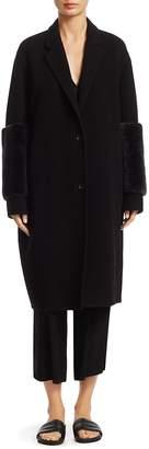 Vince Women's Shearling Long-Sleeve Coat