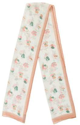 Marc Jacobs Floral Silk Scarf