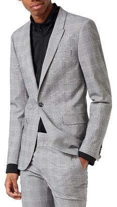 Men's Topman Ultra Skinny Fit Check Suit Jacket $250 thestylecure.com