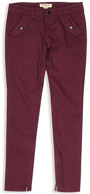 H81 Zip Ankle Striped Skinny Pant