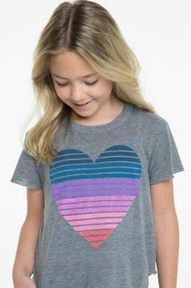 Chaser Striped Heart Tee