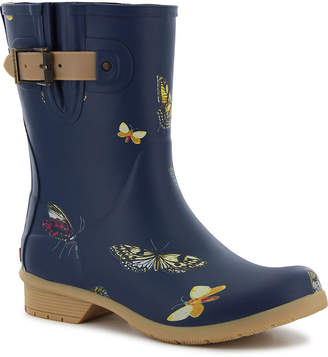 Chooka FASHION Fashion Womens Butterfly Rain Boots Waterproof Pull-on