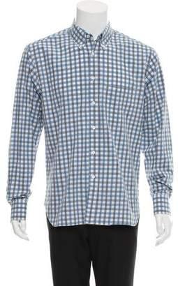 Billy Reid Checkered Button-Up Shirt
