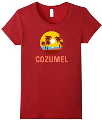 Cozumel Paradise Beach Sunset Souvenir T-Shirt