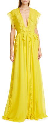 Giambattista Valli V-Neck Gown