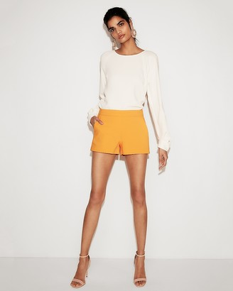 Express Mid Rise Cotton-Blend Shorts