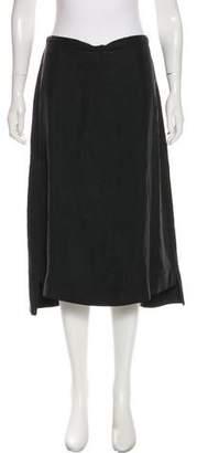 Maison Margiela Silk A-line Midi Skirt