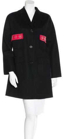 ValentinoValentino Wool Embellished Coat