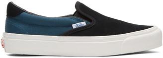Vans Black & Blue OG Classic LX 59 Slip-On Sneakers $60 thestylecure.com