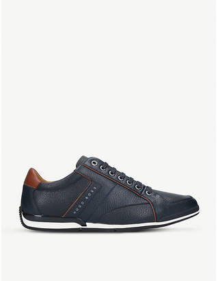 BOSS Saturn low-top leather trainers