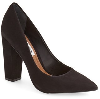 Steve Madden 'Primpy' Pointy Toe Block Heel Pump (Women) $99.95 thestylecure.com