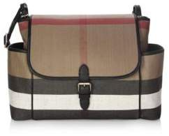 Burberry Snap-Flap Diaper Bag