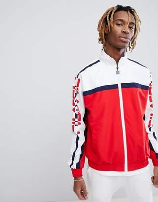 Fila Black Line Ezra Track Jacket In Red