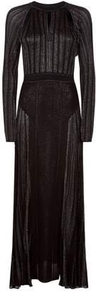 Roberto Cavalli Pleated Glitter Gown