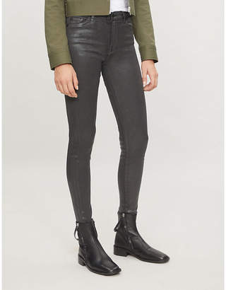 7 For All Mankind Glossy super-skinny high-rise coated jeans