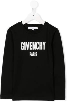 Givenchy Kids long sleeve logo T-shirt