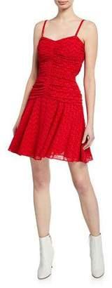 Jill Stuart Sweetheart Eyelet Ruched Mini Dress