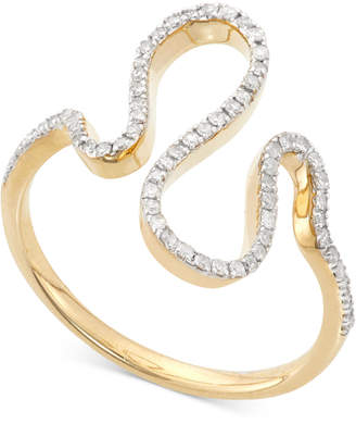 Wrapped in LoveTM Diamond Squiggle Ring (1/5 ct. t.w.) in 10K Gold, Created for Macy's