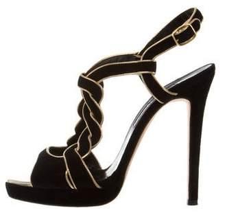 Oscar de la Renta Suede Platform Sandals